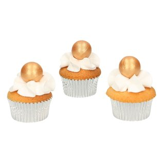 FunCakes FunCakes Pearl Choco Balls Gold Set/8