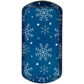 Wilton Wilton Semi-Disposable Tin Loaf Pan Snowflakes pk/2