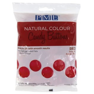 PME PME Natural Colour Candy Buttons Red 200g