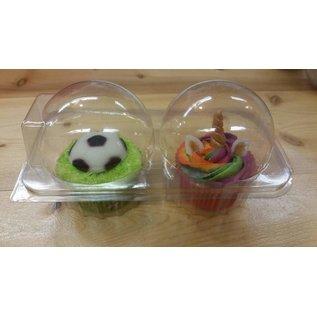 Duo Cupcakebakje voor 2 cupcakes