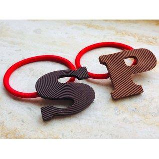 Snoepig Snoepig Chocolade letter haarelastieken Sinterklaas 2st