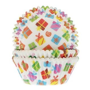House of Marie HOM Baking Cups Cadeautjes pk/24