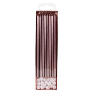 PME PME Extra Lange Kaarsen Rosé Goud 18cm pk/16