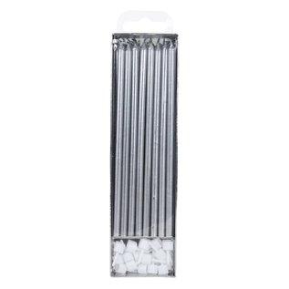 PME PME Extra Lange Kaarsen Zilver 18cm pk/16
