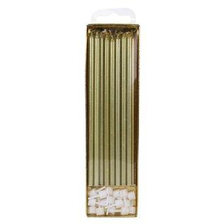 PME PME Extra Lange Kaarsen Goud 18cm pk/16