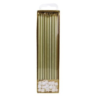 PME PME Extra Tall Candles Gold 18cm pk/16