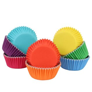 PME PME Baking Cups Rainbow Colour pk/100