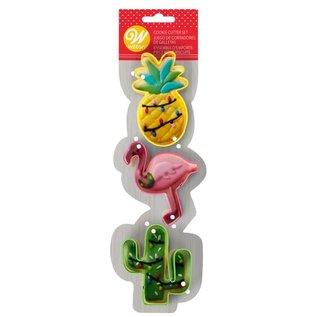 Wilton Wilton Cookie Cutters Flamingo/Cactus/Pineapple Set/3