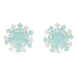 FunCakes FunCakes Fondant Decoratie Sneeuwvlokken wit/blauw Set/6