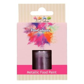 FunCakes FunColours Metallic Food Paint Purple 30ml