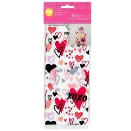 Wilton Wilton Treat Bags Traditional Valentine pk/30