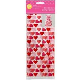 Wilton Wilton Treat Bags Hearts pk/20