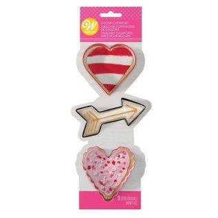 Wilton Wilton Metal Cookie Cutter Valentine Set/3