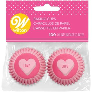Wilton Wilton Mini Baking Cups Love pk/100