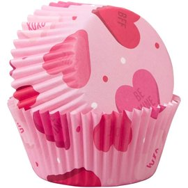 Wilton Wilton Baking Cups Hearts pk/75