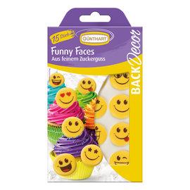 Suikerdecoratie Emoji/Smiley 15st