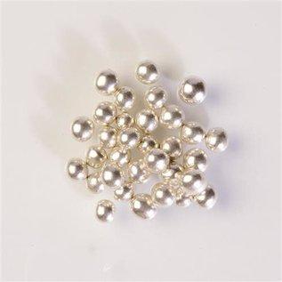 Zachte Metallic Zilveren Suikerparels 50 gr