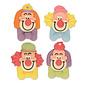 Suikerdecoratie Clown 6 st
