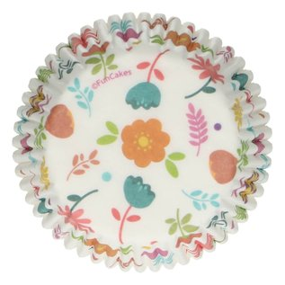 FunCakes FunCakes Baking Cups -Floral- pk/48