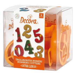 Decora Decora - Gigantische Cijfers Koekjes Uitsteker Set/9