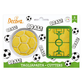 Decora Decora Voetbal Goal Uitsteker Set/2