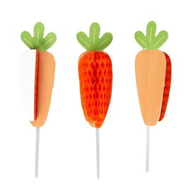 Wilton Wilton Honeycomb Picks Carrot pk/12