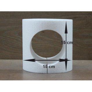 Ronde taartdummie met uitgesneden rondje Ø 15 cm