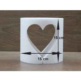 Ronde taartdummie met uitgesneden hart  Ø 15cm