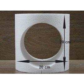 Ronde taartdummie met uitgesneden rondje - Ø 20cm
