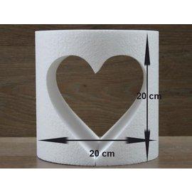 Ronde taartdummie met uitgesneden hart Ø 20cm