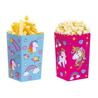 Decora Unicorn Popcorn party box 6 stuks