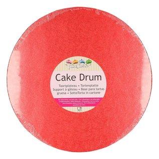 FunCakes FunCakes Cake Drum Rond Ø25cm -Rood-