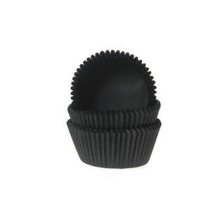 House of Marie Cupcake papiertjes zwart 50x33mm 500st.