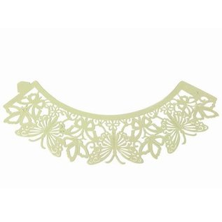 PME PME Cupcake Wrappers Vlinder Ivory pk/12