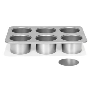 Patisse Patisse Silver-Top Mini Cheesecakevorm Losse bodem 6 vaks Ø8