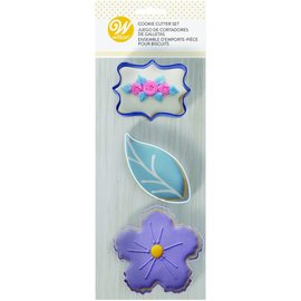 Wilton Wilton Cookie Cutters Floral Set/3