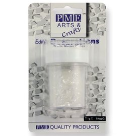 PME PME eetbare glitters - Wit 7g