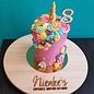 Houten Cake Topper - Nummer 7