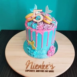 Houten Cake Topper - Nummer 6