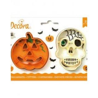 Decora Decora Halloween Pompoen en Schedel Koekjes Uitstekers set/2