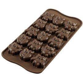 Silikomart Silikomart Chocoladevorm Uilen
