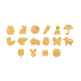ScrapCooking Scrapcooking Cookie natuur uitsteker Set/16
