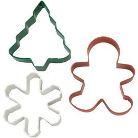 Wilton Wilton Cutter Christmas Denneboom/ Sneeuwvlok/ Gingerbread Set/3