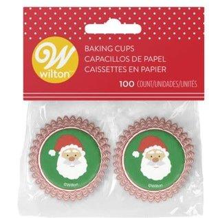 Wilton Wilton Mini Baking Cups Santa Claus pk/100
