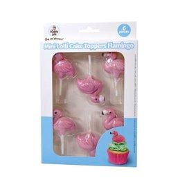 Baking Fun Lolly Cake Topper Flamingo 6st