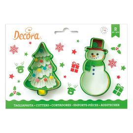 Decora Decora sneeuwpop en kerstboom uitsteker