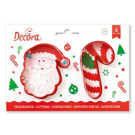 Decora Decora kerstman en candy cane uitsteker
