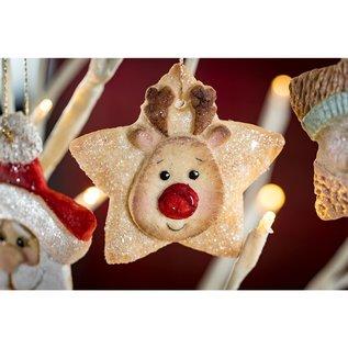 karen davies Karen Davies Siliconen Mould - Star Reindeer