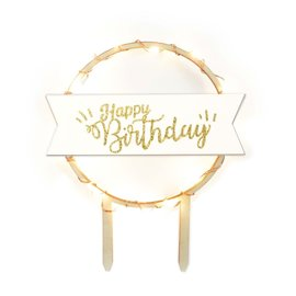 ScrapCooking Scrapcooking Cake Topper Led Happy Birthday