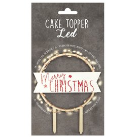 ScrapCooking Scrapcooking Cake Topper Led Merry Christmas